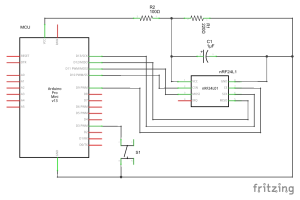The associated schematics for Pro Mini
